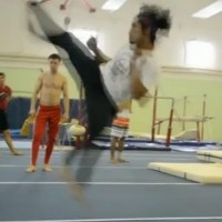 Tico in an acrobatic capoeira video